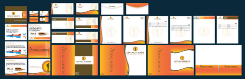 Giving Sherpa Business Cards and Stationery  Draft # 389 by waterdropdesign