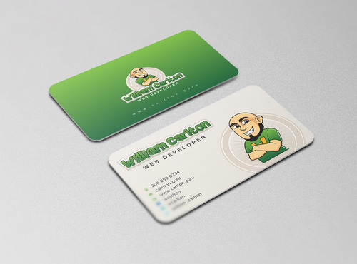 William Carlton Web Developer Business Cards and Stationery  Draft # 114 by cre8ivebrain