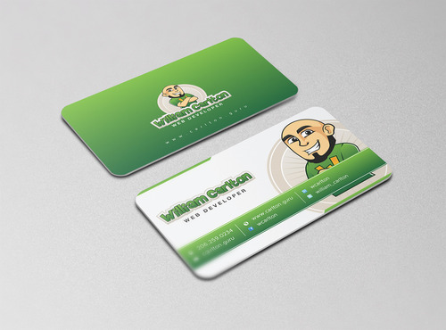 William Carlton Web Developer Business Cards and Stationery  Draft # 117 by cre8ivebrain