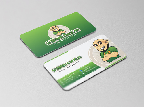 William Carlton Web Developer Business Cards and Stationery  Draft # 120 by cre8ivebrain