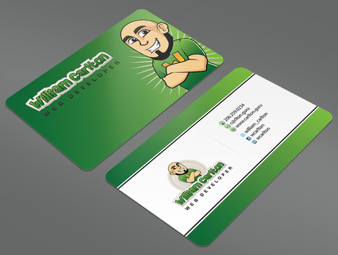 William Carlton Web Developer Business Cards and Stationery  Draft # 123 by ArtworksKingdom