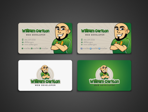 William Carlton Web Developer Business Cards and Stationery  Draft # 127 by einsanimation