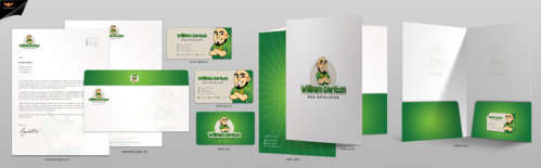 William Carlton Web Developer Business Cards and Stationery  Draft # 129 by einsanimation