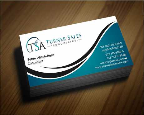 TSA Business Card Business Cards and Stationery  Draft # 144 by Dawson