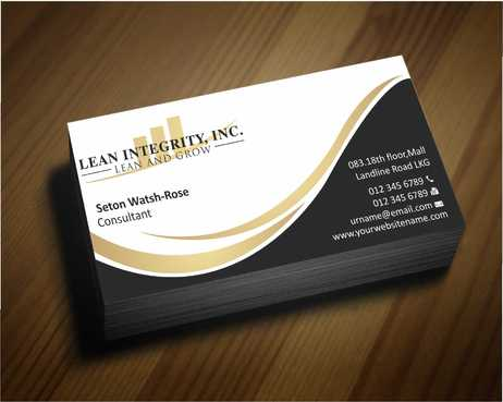 Lean Integrity BC Business Cards and Stationery  Draft # 177 by Dawson