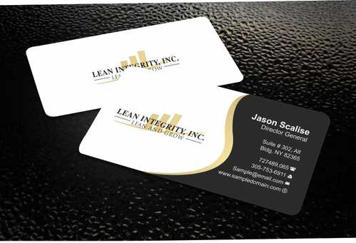 Lean Integrity BC Business Cards and Stationery  Draft # 182 by Dawson
