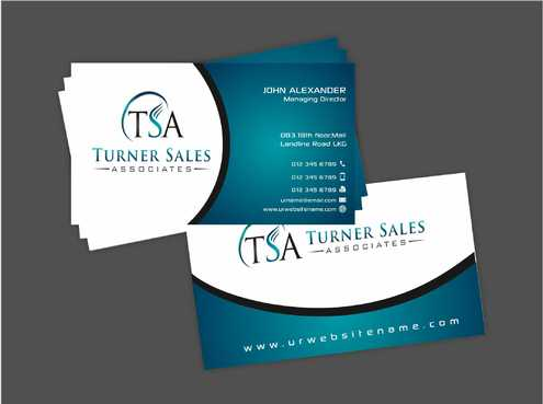 TSA Business Card Business Cards and Stationery  Draft # 164 by Dawson