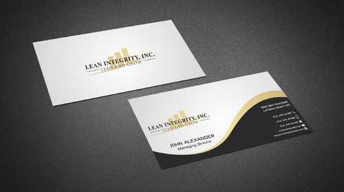 Lean Integrity BC Business Cards and Stationery  Draft # 183 by Dawson