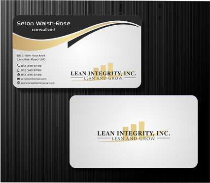 Lean Integrity BC Business Cards and Stationery  Draft # 187 by Dawson