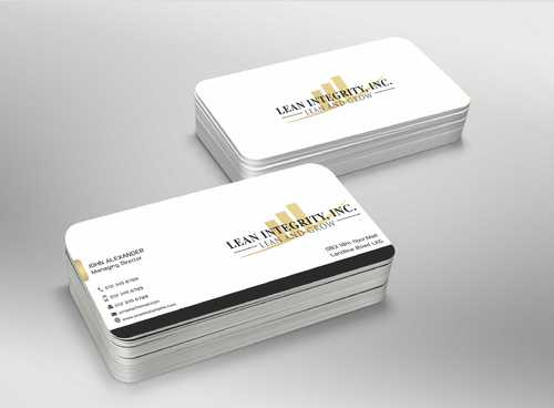 Lean Integrity BC Business Cards and Stationery  Draft # 197 by Dawson