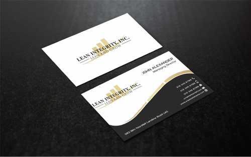 Lean Integrity BC Business Cards and Stationery  Draft # 201 by Dawson