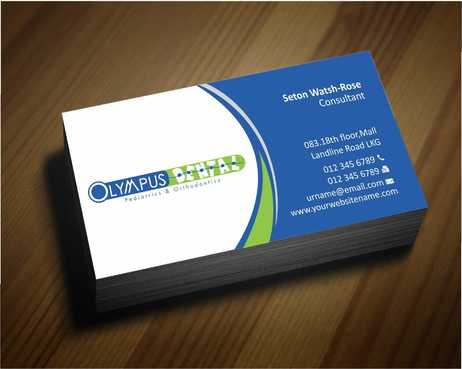Olympus Dental  Business Cards and Stationery  Draft # 136 by Dawson