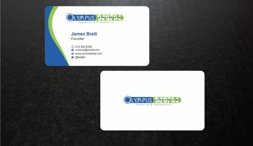 Olympus Dental  Business Cards and Stationery  Draft # 155 by Dawson