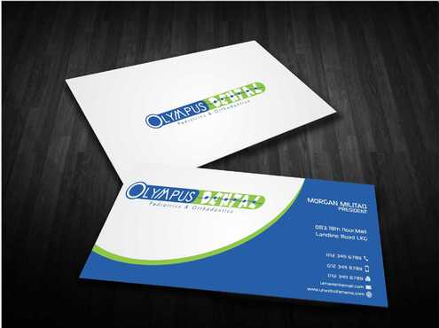 Olympus Dental  Business Cards and Stationery  Draft # 158 by Dawson