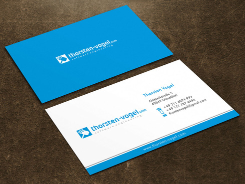 thorsten-vogel.com Business Cards and Stationery  Draft # 6 by Xpert