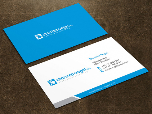 thorsten-vogel.com Business Cards and Stationery  Draft # 8 by Xpert