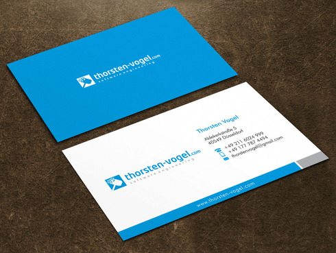 thorsten-vogel.com Business Cards and Stationery  Draft # 9 by Xpert