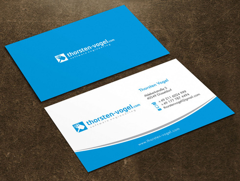 thorsten-vogel.com Business Cards and Stationery  Draft # 12 by Xpert