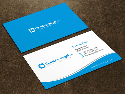 thorsten-vogel.com Business Cards and Stationery  Draft # 13 by Xpert