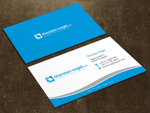 thorsten-vogel.com Business Cards and Stationery  Draft # 14 by Xpert
