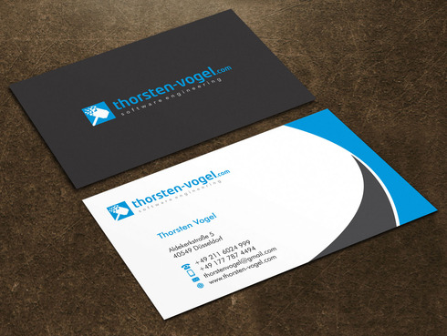 thorsten-vogel.com Business Cards and Stationery  Draft # 21 by Xpert