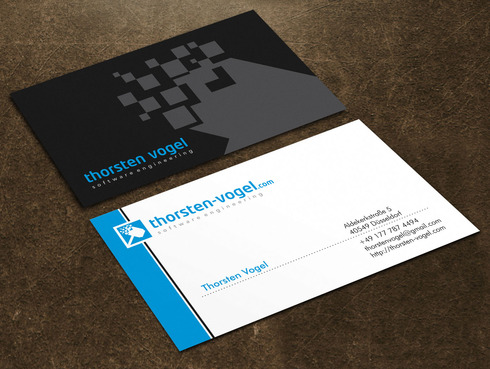 thorsten-vogel.com Business Cards and Stationery  Draft # 104 by Xpert