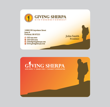 Giving Sherpa Business Cards and Stationery  Draft # 402 by ArtworksKingdom