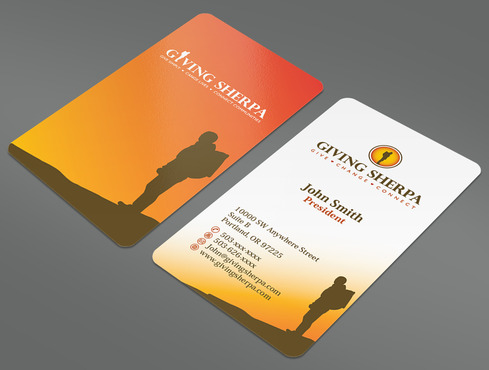 Giving Sherpa Business Cards and Stationery  Draft # 406 by ArtworksKingdom