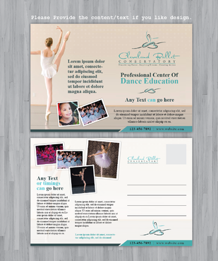 Ballet School Postcard Marketing collateral  Draft # 34 by Achiver