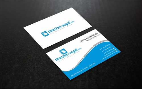 thorsten-vogel.com Business Cards and Stationery  Draft # 292 by Dawson