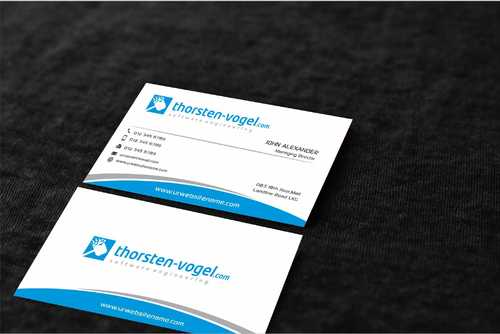 thorsten-vogel.com Business Cards and Stationery  Draft # 296 by Dawson