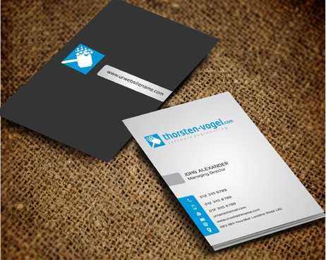 thorsten-vogel.com Business Cards and Stationery  Draft # 297 by Dawson