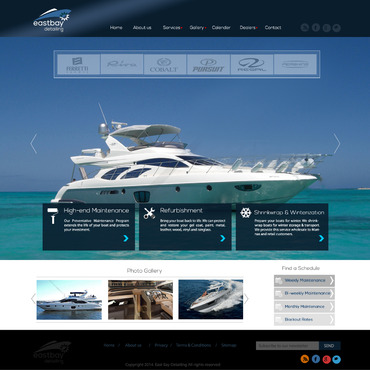 East Bay Detailing, professional polishing & yacht maintenance Complete Web Design Solution  Draft # 95 by leonydazz