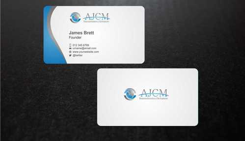 ...............AJCM- Empreendimentos e Participações.......... Business Cards and Stationery  Draft # 85 by Dawson