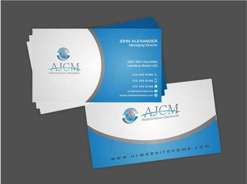 ...............AJCM- Empreendimentos e Participações.......... Business Cards and Stationery  Draft # 88 by Dawson