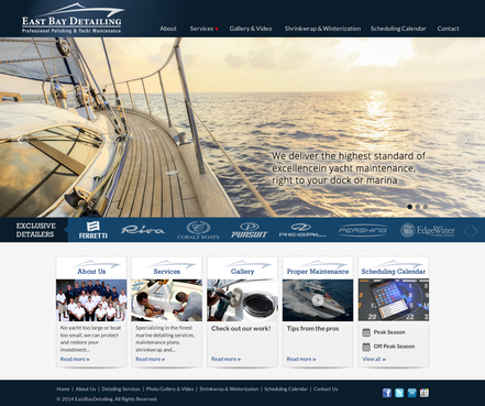 East Bay Detailing, professional polishing & yacht maintenance Complete Web Design Solution Winning Design by itmech
