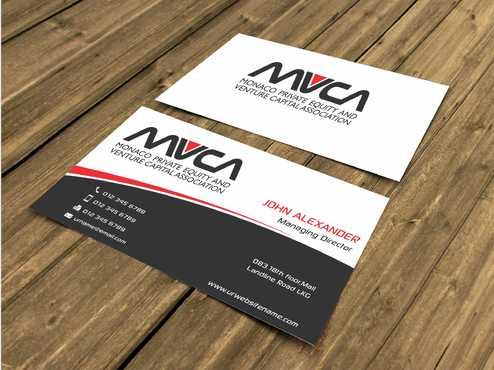 Monaco Private Equity and Venture Capital Association Business Cards and Stationery  Draft # 213 by Dawson