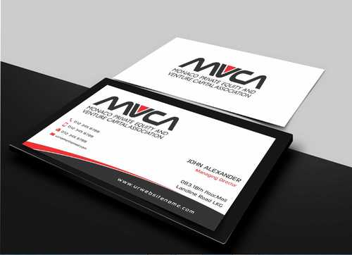 Monaco Private Equity and Venture Capital Association Business Cards and Stationery  Draft # 214 by Dawson