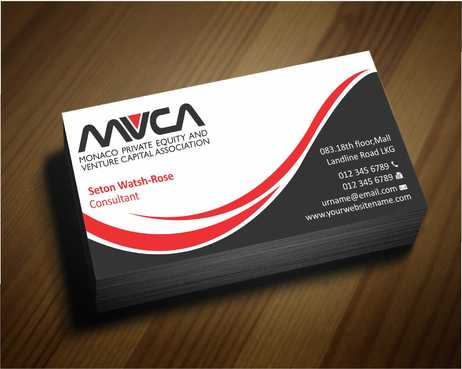 Monaco Private Equity and Venture Capital Association Business Cards and Stationery  Draft # 223 by Dawson