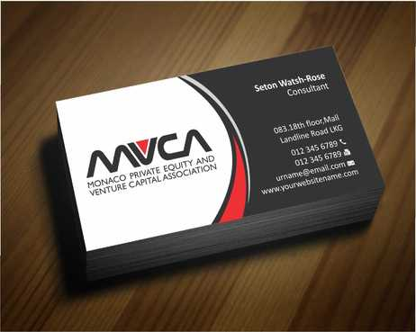 Monaco Private Equity and Venture Capital Association Business Cards and Stationery  Draft # 224 by Dawson