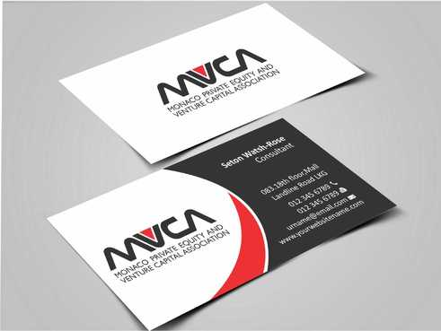 Monaco Private Equity and Venture Capital Association Business Cards and Stationery  Draft # 225 by Dawson