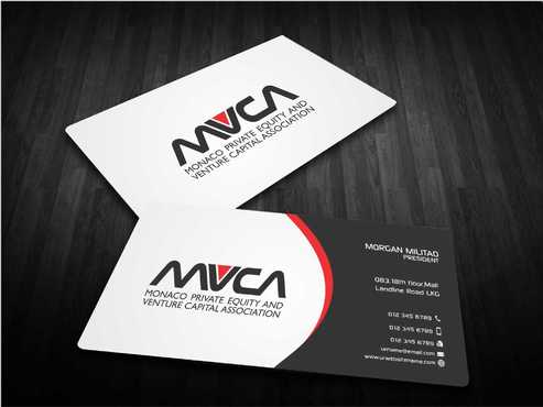 Monaco Private Equity and Venture Capital Association Business Cards and Stationery  Draft # 243 by Dawson