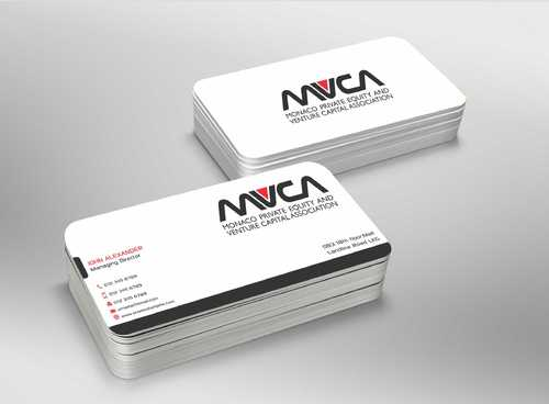 Monaco Private Equity and Venture Capital Association Business Cards and Stationery  Draft # 246 by Dawson