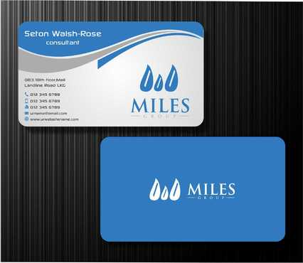 Miles Group Business Cards and Stationery  Draft # 240 by Dawson