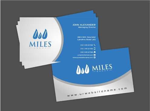 Miles Group Business Cards and Stationery  Draft # 246 by Dawson