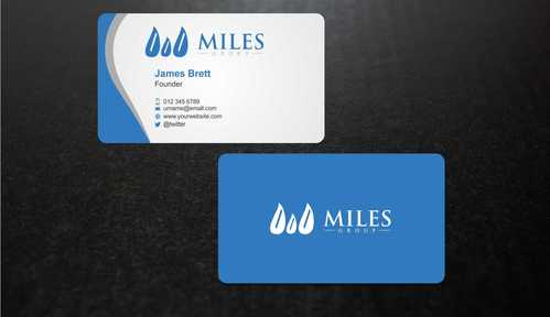 Miles Group Business Cards and Stationery  Draft # 248 by Dawson