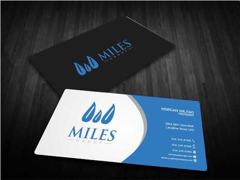 Miles Group Business Cards and Stationery  Draft # 252 by Dawson