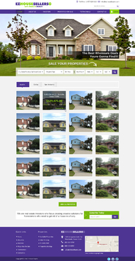 EZHOUSESELLERS.COM Property hosting site Complete Web Design Solution  Draft # 53 by makeglow