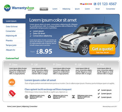 A new site design for a new approach to extended warranty