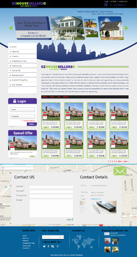 EZHOUSESELLERS.COM Property hosting site Complete Web Design Solution  Draft # 60 by aminzah